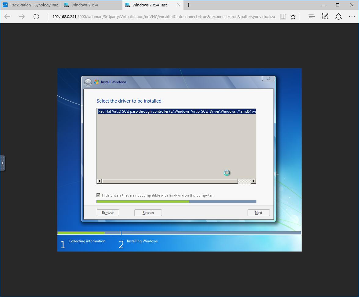 How to set-up Windows 7 on Synology Virtual Machine Manager Beta – Poyu